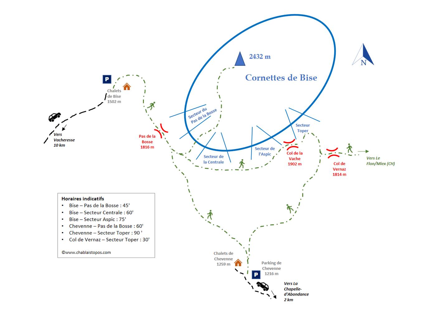 Cornettes de Bise / Accès général