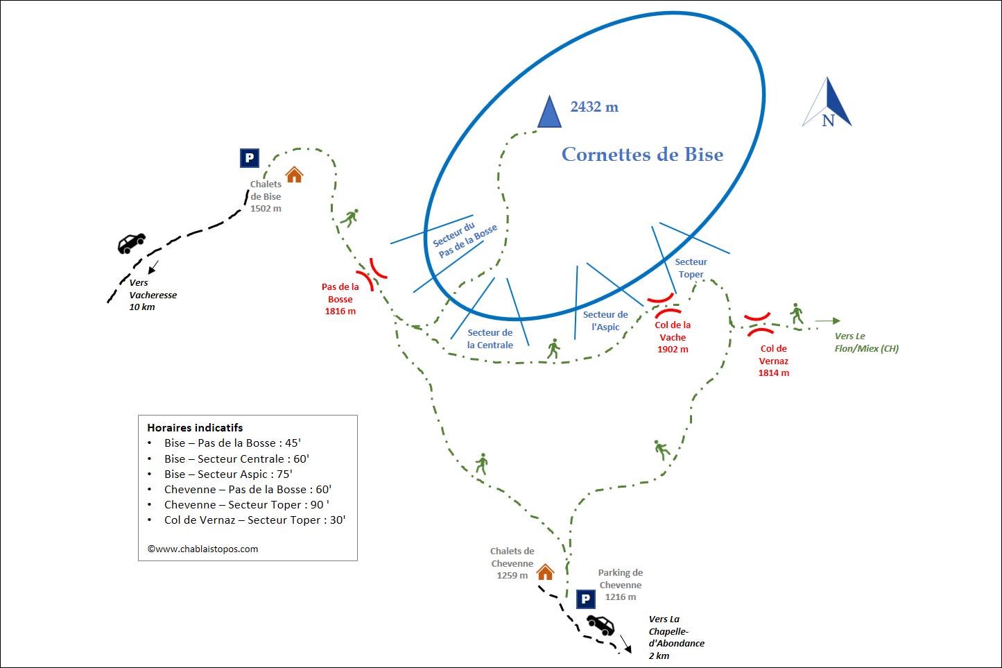 Cornettes de Bise - Accès général