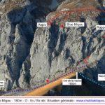 Blue Migou / Vue générale et itinéraire de descente