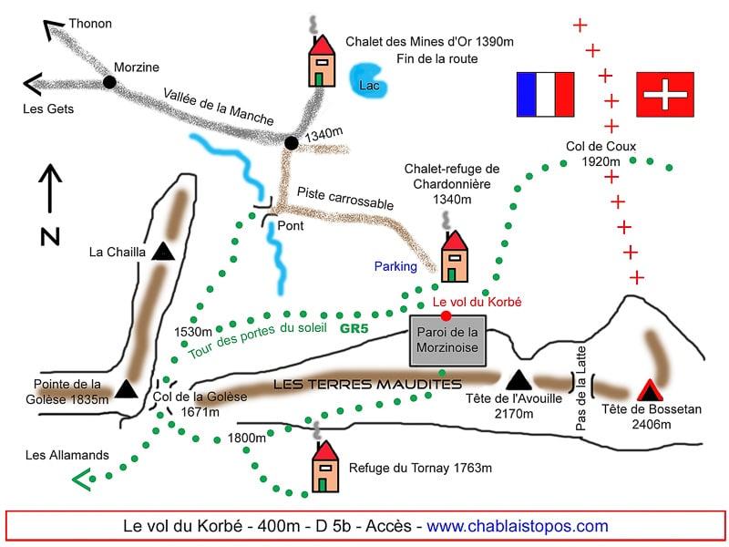 Vol du Korbé /Accès général
